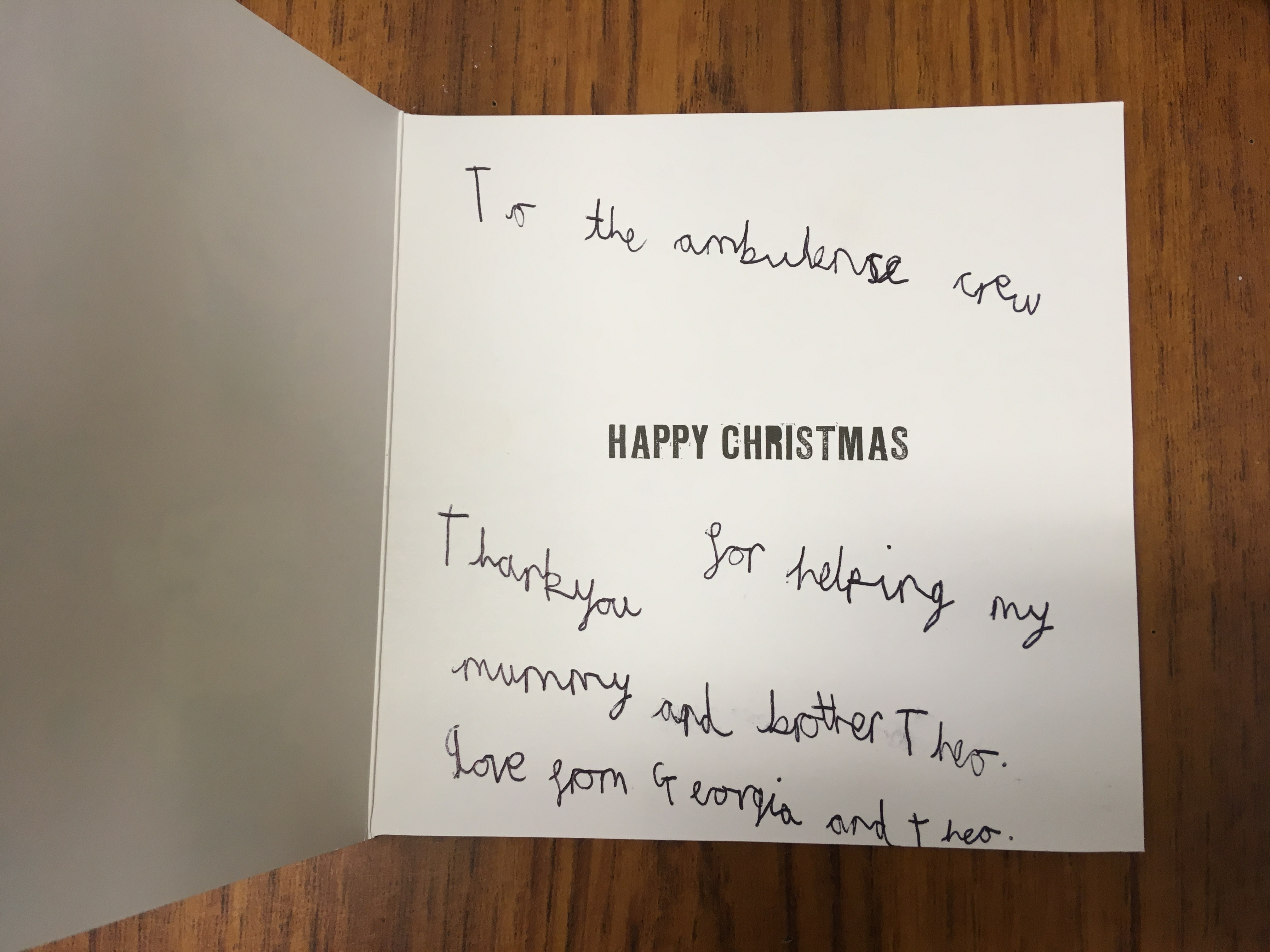 Christmas Thank You's from our Patients