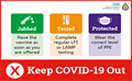 No changes to our existing Covid-19 secure working guidance